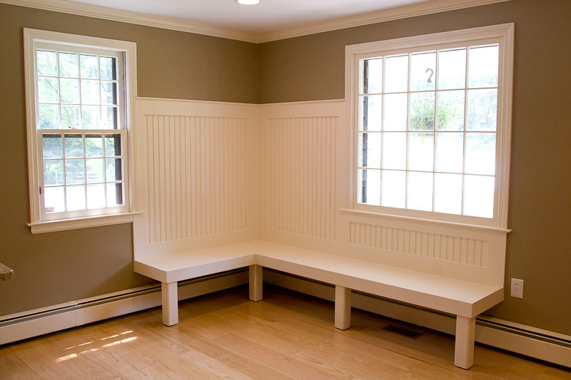 Bailey Carpentry Built-in kitchen bench seating | Glastonbury CT