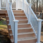Cedar deck stairs with Azek composite railing