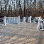 Cedar deck with Azek railing, Mansfield, Ct