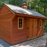 Custom built cedar garden shed in Rocky Hill, CT