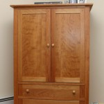 Custom built cherry TV cabinet that could be used as an armoire. Coventry, CT