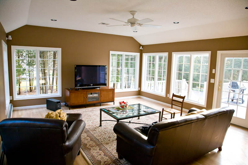 Family room addition with casement windows rocky hill ct for Room addition