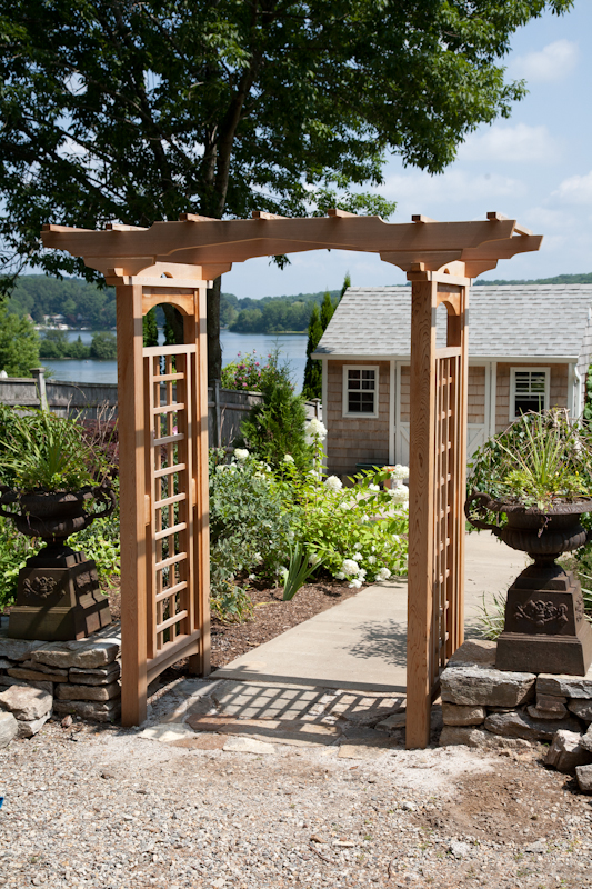 Garden arbor made with cedar in Coventry, CT