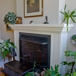 A contemperary fireplace place mantle that is painted white in Avon CT