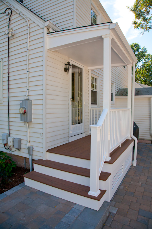 A porch renovation in glastonbury ct by bailey carpentry for Composite porch decking