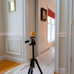 Installing 2 piece chair rail and shadow box molding with laser level PLS 180 in Coventry CT