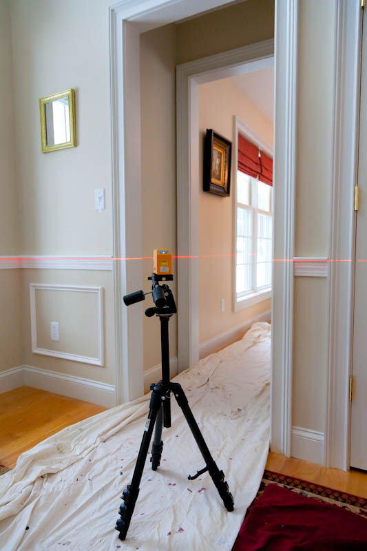Installing Chair Rail With A Laser Level Pls 180