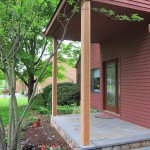 Image of a porch post replacement and repair with cedar columns in Rocky Hill, CT