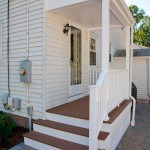 Porch renovation with Timbertech composite decking Azek and railings in Glastonbury CT
