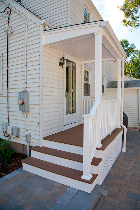 A Porch Renovation With Composite Decking And Railings In Glastonbury CT