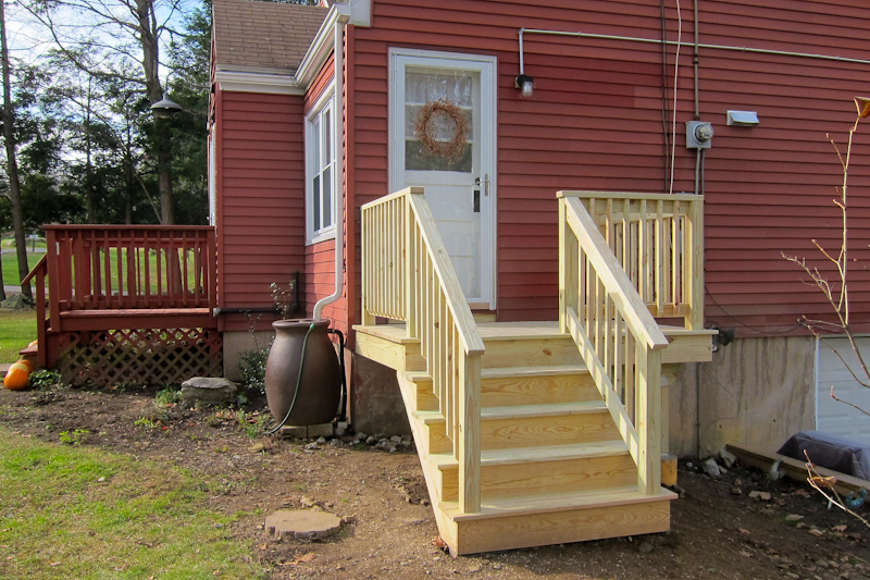 An Image Of A Deck Repair Job With New Stairs In Coventry CT