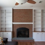 Built-in cabinetry in Rocky Hill CT featuring adjustable book shelves and raised panel doors.