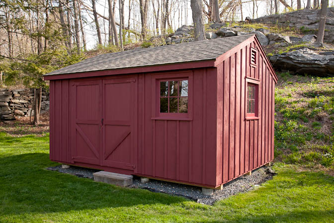 A custom built rough sawn pine shed by a glastonbury shed builder.