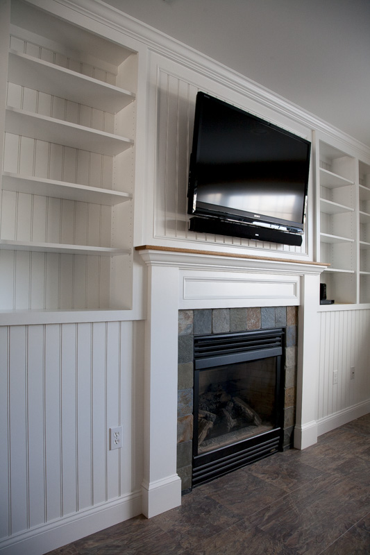 Fireplace surround with built-in tv