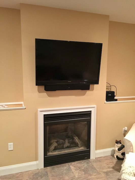 Built In Fireplace Surround With Lcd Tv Bailey Carpentry